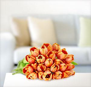 Orangefarbene Tulpen
