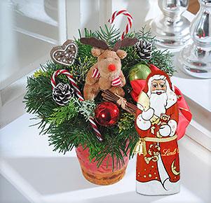 Himmelswerkstatt mit Lindt Weihnachtsmann 70g