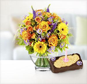 Glückwunsch mit Happy Birthday Törtchen