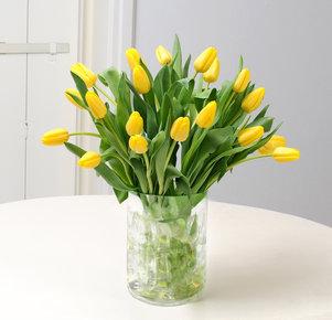 20 gelbe Tulpen