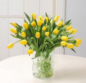 30 gelbe Tulpen