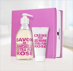 Verwöhnset Rose - Handseife & Handcreme aus Marseille