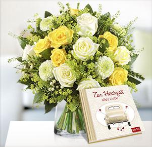 """Sonnentag mit Buch """"Zur Hochzeit alles Liebe"""""""