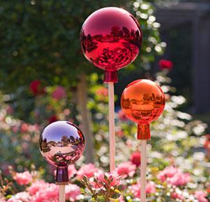 Rosenkugeln Set Rot, Orange und Violett (3 St.) wundervolle Thüringer Handarbeit