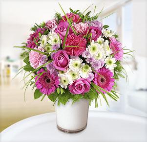 Sensation mit weißer Vase