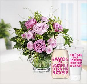 Sommerhauch mit Verwöhnset Rose