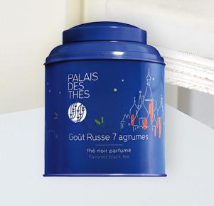 Aromatisierter Schwarztee 'Goût Russe 7 Agrumes' von Palais Des Thés