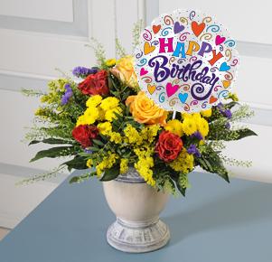 Geburtstagsglück mit Luftballon Happy Birthday