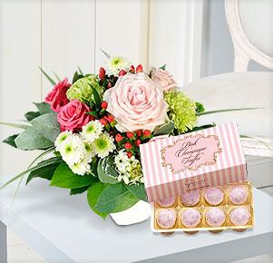 Zarte Liebe mit Pink Champagne Truffes Pralinen Gmeiner Confiserie