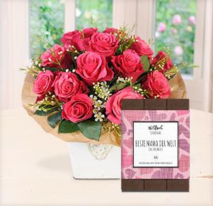 """Pink Magic mit Schokolade """"Beste Mama der Welt"""""""