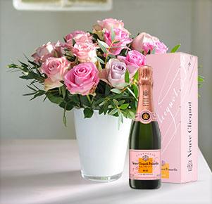 Rosenvielfalt mit mit Veuve Clicquot Rosé (0,375l)