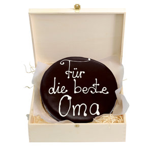 """Schokoladentorte nach Sacher Art """"Für die beste Oma"""", 800 g"""