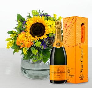 Sonnengruß mit Veuve Clicquot