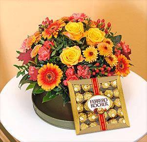 Goldener Herbst mit Rocher Genießermomente in Gold