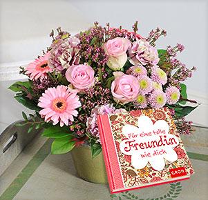 """Gratulation mit Buch """"Für eine tolle Freundin wie Dich"""""""