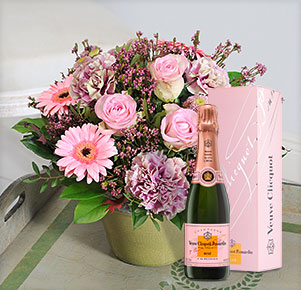 Gratulation mit Veuve Clicquot Rosé (0,375l)