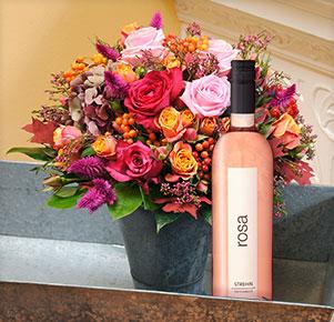 Herbstfeuer mit Rosé Rosa, Weingut Strehn (0,75l)