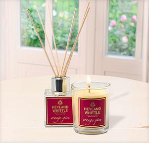 Orange Spice Mini Diffuser & Votive Candle Geschenkset