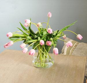 20 rosafarbene Tulpen