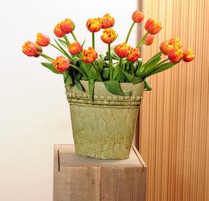 20 orange/gelb gefüllte Tulpen