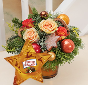 Lichterglanz mit Ferrero Küsschen Stern (124g)