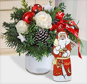 Nordlicht mit Lindt Weihnachtsmann