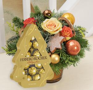 Lichterglanz mit Ferrero Rocher Tannenbaum
