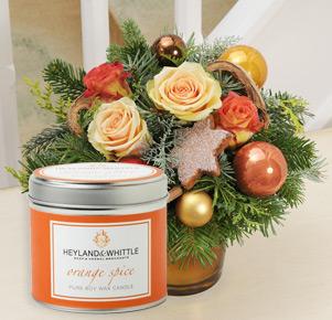Lichterglanz mit Duftkerze Orange Spice in Geschenkdose