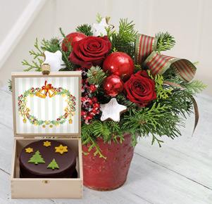 Vorfreude mit weihnachtlicher Sachertorte (200g)