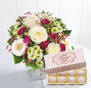 Geburtstagsgrüße mit Pink Champagne Truffes Pralinen