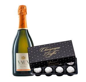 Sekt Cuvée VAUX Brut (0,75l) mit Champagner Truffes 90g