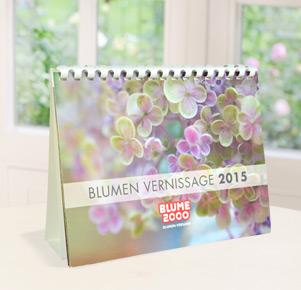 """Tischkalender """"Blumen Vernissage 2015"""""""