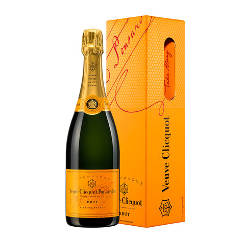 Champagner Veuve Clicquot in orange