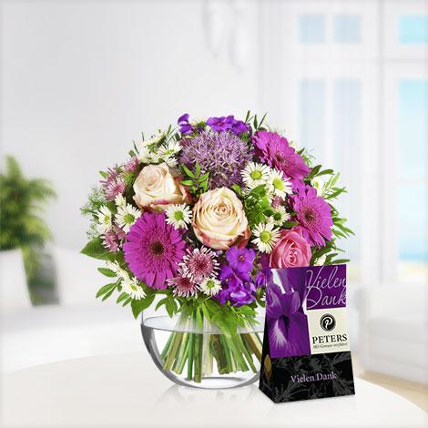 Blütenzauber mit Peters Pralinen Vielen Dank