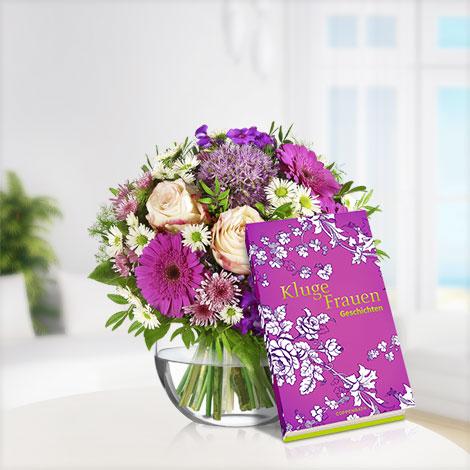 Blütenzauber mit Buch Kluge Frauen
