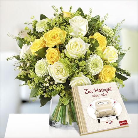 Sonnentag mit Buch ´´Zur Hochzeit alles Liebe´´