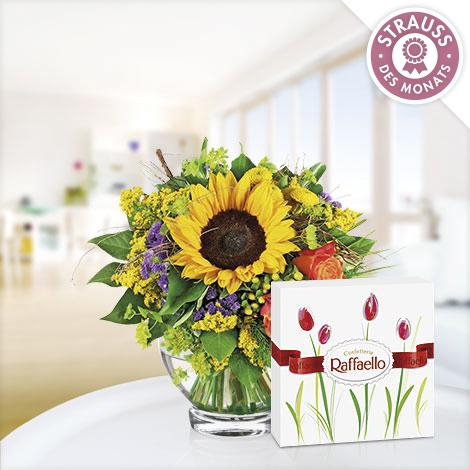 Sonnengruß mit Ferrero Raffaello
