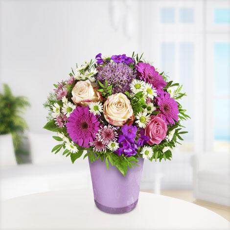 Blütenzauber mit Vase Flieder