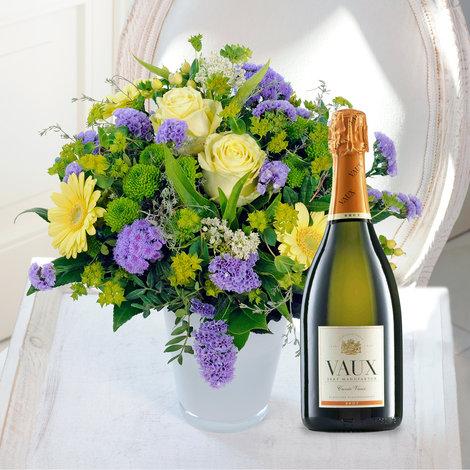 Beste Wünsche mit Vaux Sekt Cuvée VAUX Brut, 0,75 l