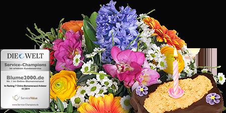 Farbenzauber mit Geburtstagstörtchen