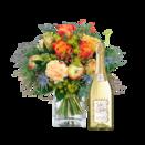 Blumenstrauß Für Dich viel Glück mit Sekt Jules Mumm