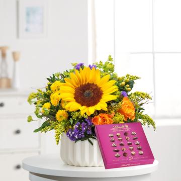 Sonnengruß mit Lindt Mini Pralinés