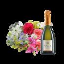 """Blumenstrauß """"Kleiner Sommer"""" mit Sekt VAUX Cuvée Brut"""