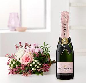 Valentina mit Champagner Moët Rosé