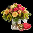 Blumenstrauß Geburtstagsglück mit Lindt Herz