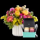 Blumenstrauß Spiel der Farben M mit Macarons