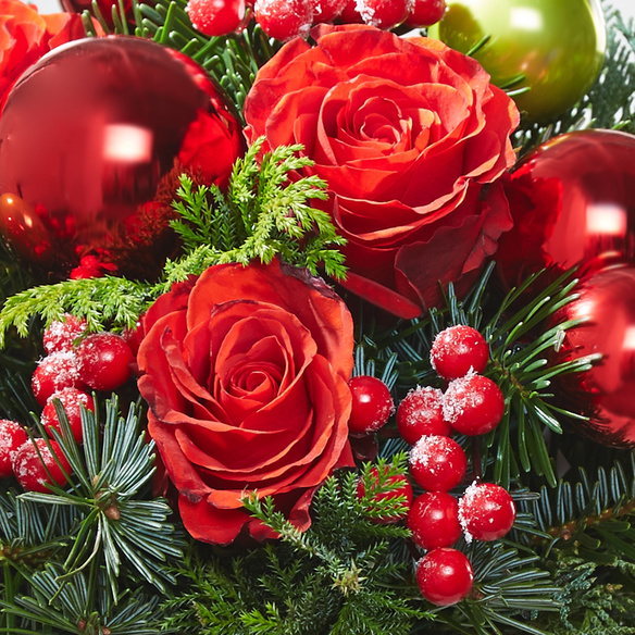Blumenstrauß  Schönste Freude mit Christstollen Marc de Champagner