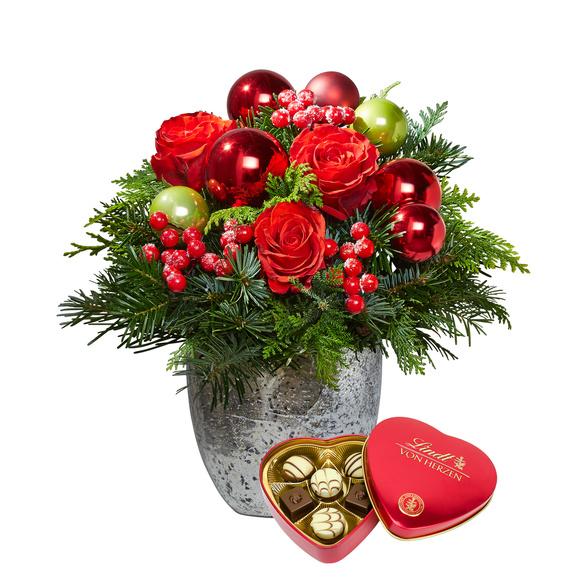 Blumenstrauß  Schönste Freude mit Lindt Herz