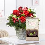 Blumenstrauß  Schönste Freude mit Winterlicher Sachertorte