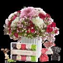 Blumenstrauß Herbstgruß mit Tartufini Dolci Mix
